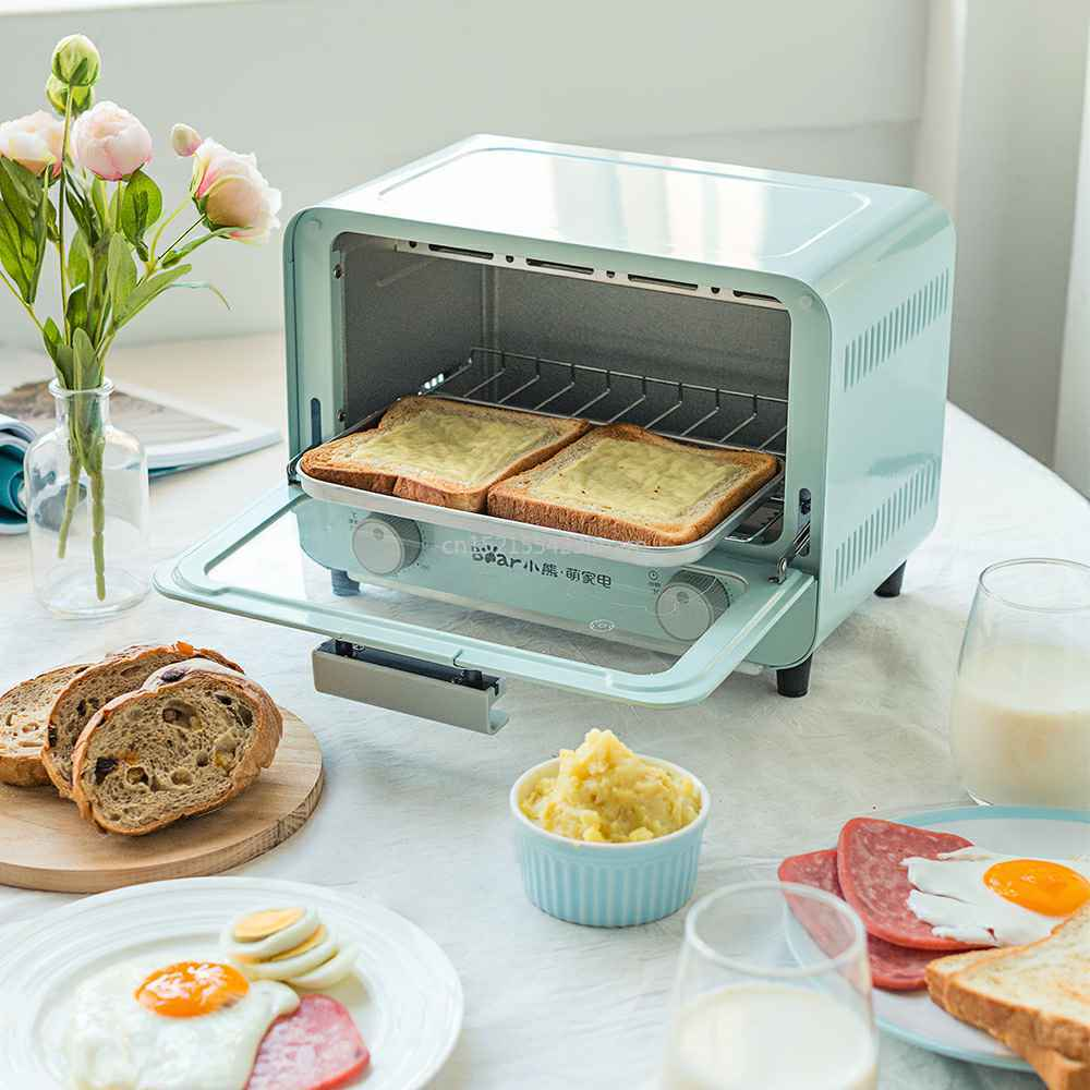 9L Electric Microwave Oven Fully Automatic Household Baking Cake Bread Stretched Grill Drawer Type Slag Tray