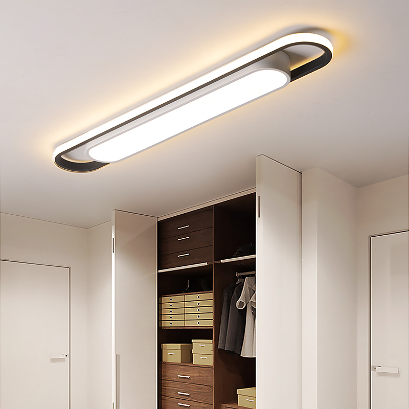 Современные светодиодные потолочные лампы высокой яркости для спальни, кабинета, коридора, прохода, поверхностного монтажа, железный потол...