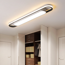 Modern Led Ceiling Lights For Living Room Bedroom Study Corridor white and black color iron surface mounted Lamp