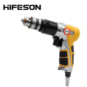 3/8 High-speed Pneumatic Gun Drill Reversible Air Drill Tools for Hole Drilling 10mm high speed pneumatic drill industrial grade driller with 90 degree 3 8 elbow corner