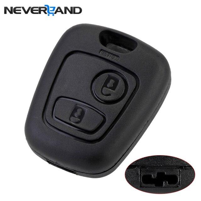 10pcs 2 Buttons Remote Key Flip Fob Car Key Case Shell Without Blade For Peugeot Partner Expert Boxer SX9 Citroen D40