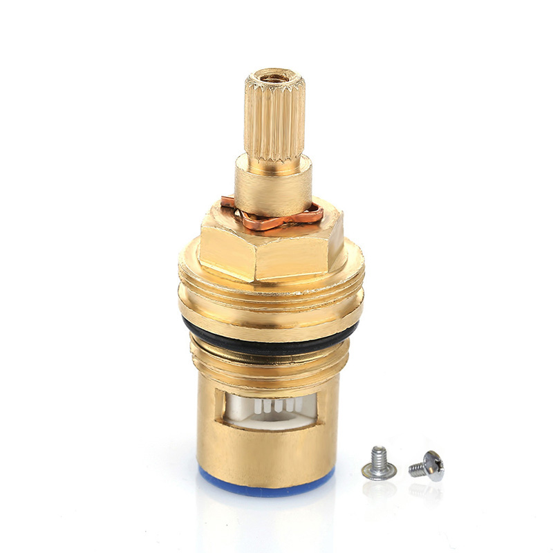 Ceramic Thermostatic Valve Faucet Cartridge Bathroom Hot And Cold Mixer Valve Adjust Water Temperature Brass Body Material