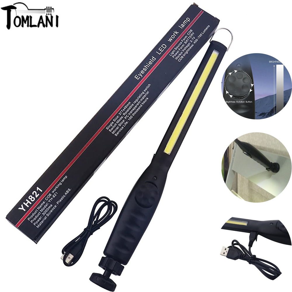 6000LM LED Work Light High Power Torch 1*COB Light Strip Magnetic Portable Flashlight Rechargeable Latern For Reparing Camping|LED Flashlights|   - AliExpress