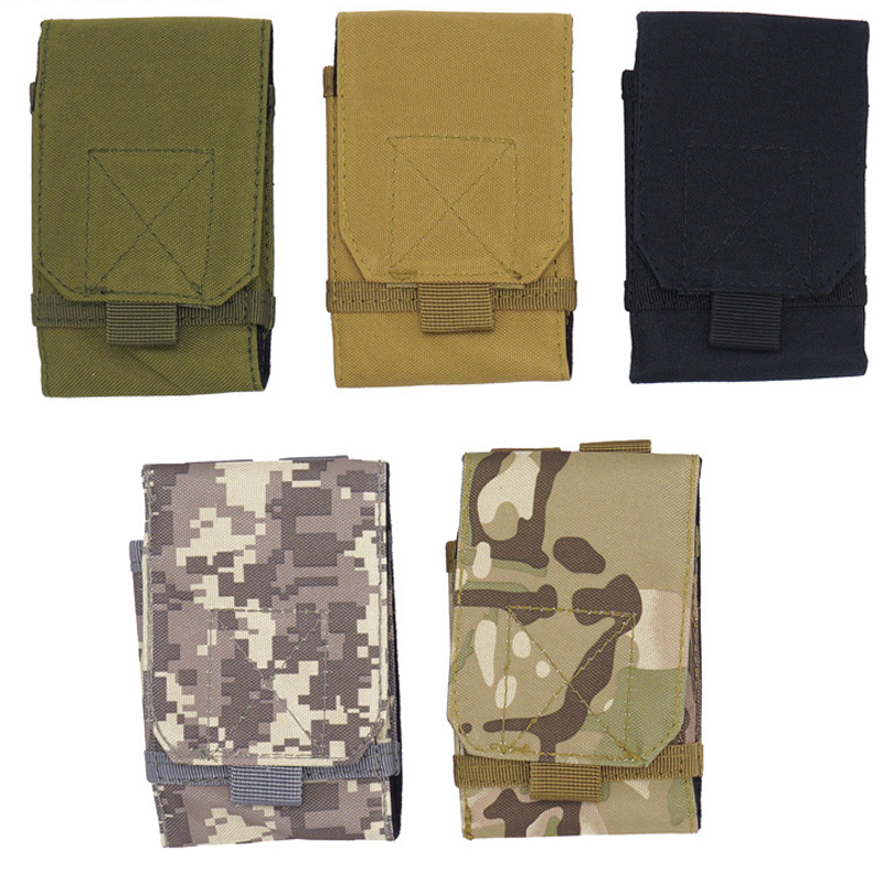 Outdoor Camping Hiking Tactical Phone Bag  Army Camo Camouflage Bag Hook Loop Belt Mobile Case Waist Back Pack