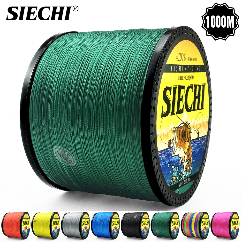 SIECHI Series 1000M Fishing Line 12-83LB Braided Line Smooth Multifilament PE Fishing Line for Saltwater Fishing