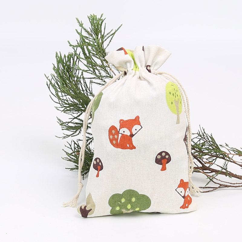 100Pcs Drawstring Imitation Linen Bags Jewelry Packaging Wedding Gift Candy Pouches 10*15cm