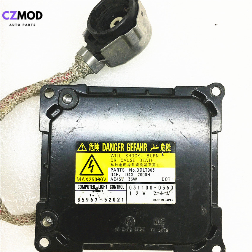 CZMOD Original 85967-52020 D4S D4R Xenon Headlight Ballast Computer Light Control 85967-52021 031100-0561 DDLT003 Used image