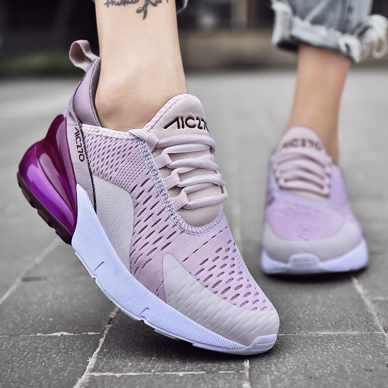2020 Women Shoes Sneaker Breathable Outdoor Sneakers Non Slip Damping Jogging Sport Shoes Walking Plus Size Female Trainers
