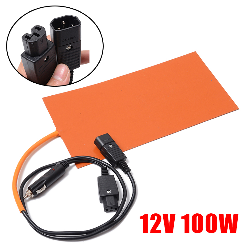 152mmx304mm 12V 100W Silicone Heated Pad 3D Printer Flexible Heating Pads Waterproof Heater Mat