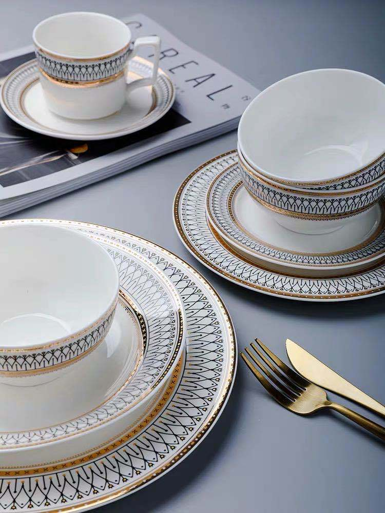 Роскошные обеденные тарелки в скандинавском стиле, чаши для риса и супа, Сервировочная тарелка для торта, десертная тарелка, декоративные с...