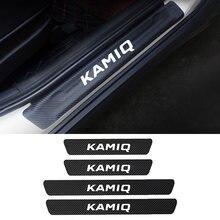 4 шт защитные наклейки на порог двери автомобиля из искусственной