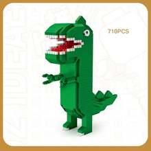 Классическая Фигурка динозавра из мультфильма кукла микро бриллиантовый