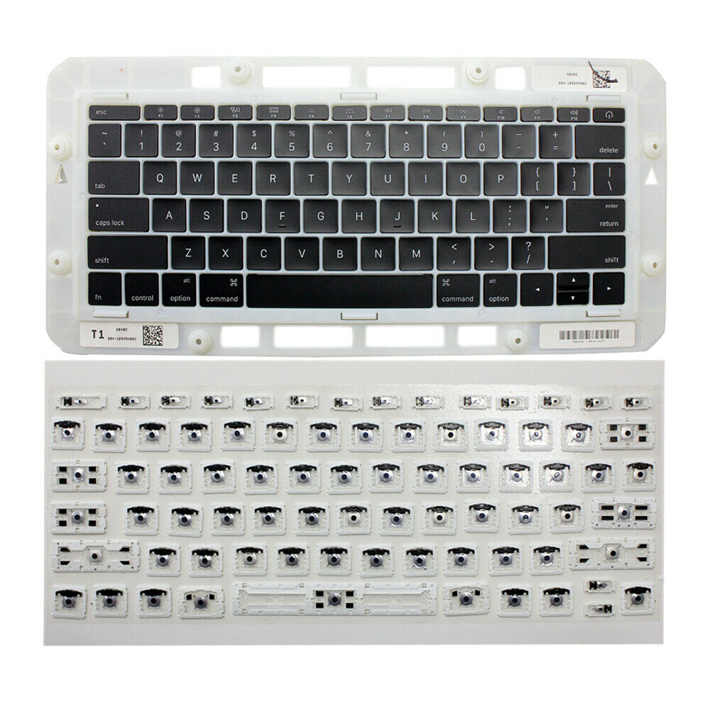 New US Keyboard Key Caps Full Set + Clip For Macbook Pro 13 A1706 A1707 A1708