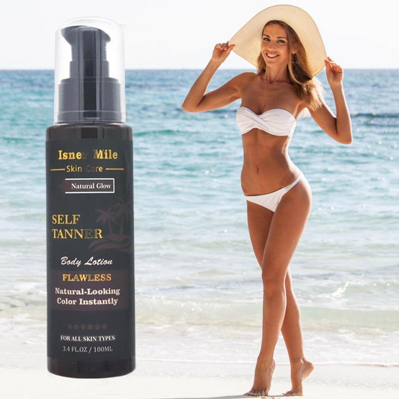 Long Lasting Sunless Tanning Self Tan Organic Natural Beauty Black Tan Mousse Tanning Lasting Long Body Tan Lotion Fake Bea Y1V0