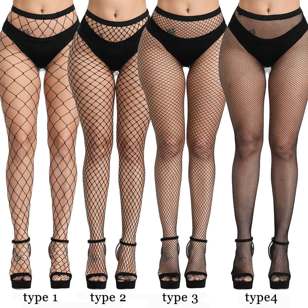 Pantyhose Club women sexy lingerie slim fishnet pantyhose club party black erotic costumes tights high stockings small/middle/big mesh