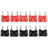 10 パックデュアルバナナプラグスピーカーコネクタネジタイプブラック + 赤|コネクタ|ライト & 照明 -