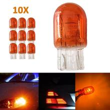 10шт Т20 7443 в w21 5W с прозрачным стеклом ДРЛ сигнала поворота тормоз остановить хвост света лампа