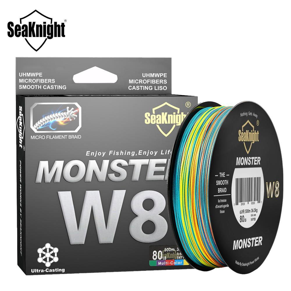SeaKnight Monster W8 Multi Color 8 Strands PE Fishing Line 300M 500M 15 20 30 40 50 80 100LB Smooth Braided Lines Carp Fishing|8 strands|fishing line 500mfishing line - AliExpress