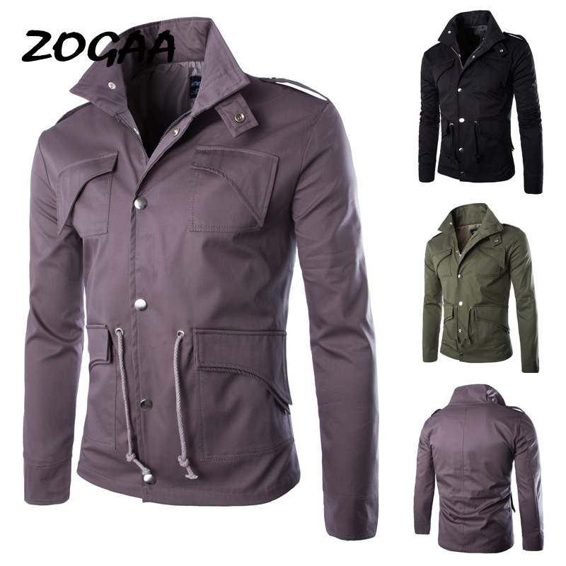ZOGAA 2020 Oversize Solid Color Classic Bomber Jackets Men Spring Autumn Outerwear Mens Windbreaker Jackets Plus Size 4XL Coat