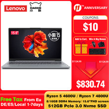 Lenovo Xiaoxin 15.6 inch Laptop AMD Ryzen R7 4800U R5 4600U 512GB SSD 16GB DDR4 Windows 10 Notebook With Backlit Keyboard