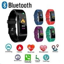 ID115 плюс цветной экран умный Браслет спортивный шагомер часы фитнес бег ходьба трекер сердечного ритма шагомер умный Браслет
