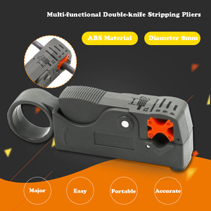 1Pc Coaxial Household Multi Tool Cable Stripper/Cutter Tool Rotary Coax Stripper for RG59/6 Metal Network Tool Wire Stripper