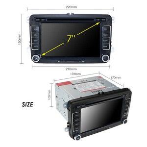 Image 4 - Samochodowy odtwarzacz multimedialny GPS Android 10.0 2 Din dla VW/Volkswagen/POLO/PASSAT/Golf Radio kamera 4 rdzeń 2GB + 16GB odtwarzacz DVD DSP IPS