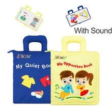 Тихие книги для детей 0, 12, 24, 36 месяцев, детские игрушки Монтессори для мягкой ткани, книга-оппоссит для малышей, 3d-книги для чтения, игрушки