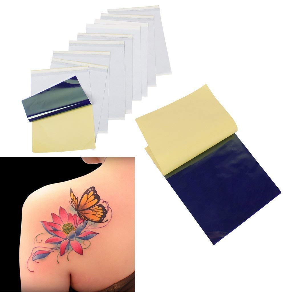 10Pcs Tattoo Stencil Transfer Paper Tattoo Thermal Stencil Paper Printer Paper,Tattoo Stencil Paper Tattoo Transfer Paper