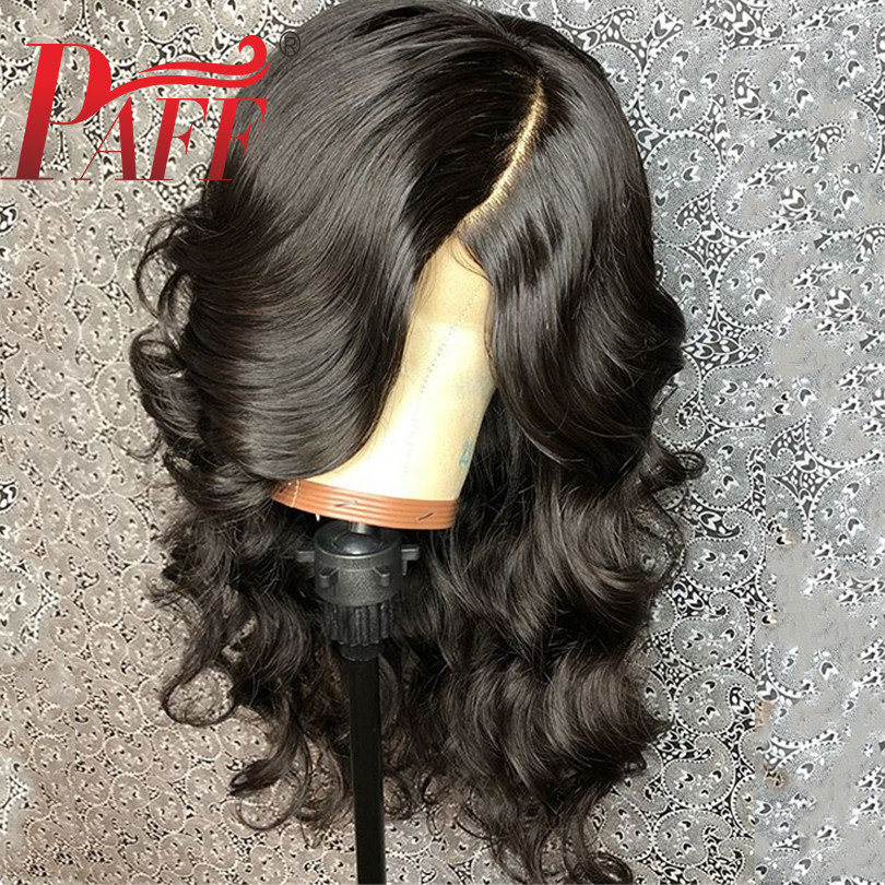 PAFF Body Wave Silk Top Glueless Lace Front Wigs 4*4'' Silk Base Free Part Wigs Brazilian Remy Human Hair With Baby Hair