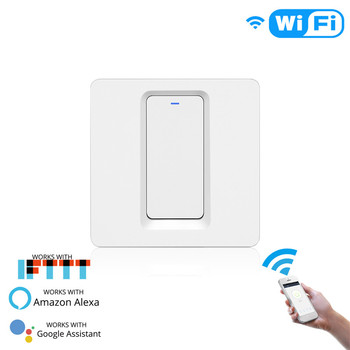 WiFi Smart Light Switch Push Button Smart Life/Tuya APP Remote Control Works with Alexa Google Home for Voice Control 8