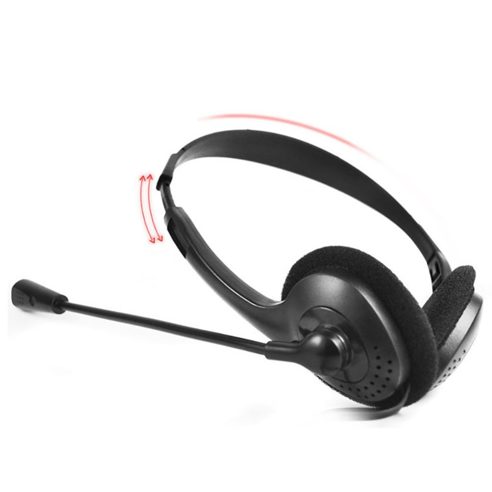 Universal 3.5mm Wired Noise Cancelling Stereo Headset 180 Degree Rotatable Headphone For PC Laptop Computer With Microphone
