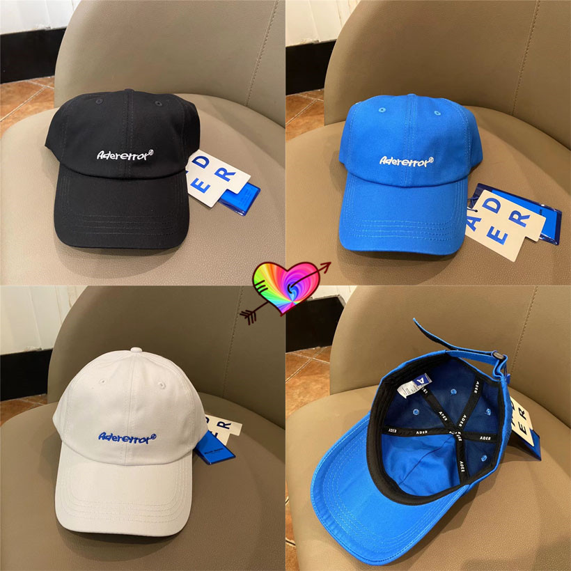 2021 ADER ERROR Invader Baseball Caps Men Women 1:1 High Quality Embroidery Logo Adererror Hats Blue Mark Adjustable Caps