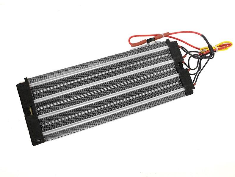 3000 Вт ACDC 220 В PTC керамический нагреватель воздуха нагревательный элемент электрический подогреватель 330*102 мм с термостатом protector