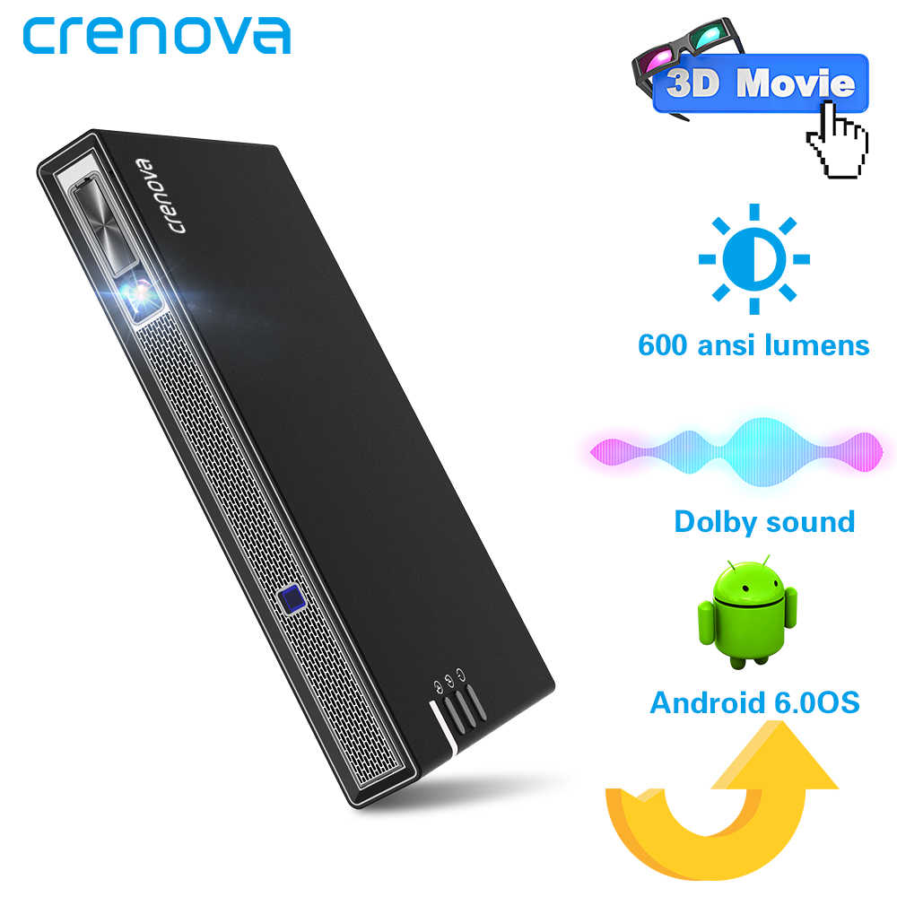 CRENOVA 2019 Newest Mini Projector With WIFI Bluetooth (Optional 2G 16G) Android Projector For 4k Videos 3D Dolby Beamer