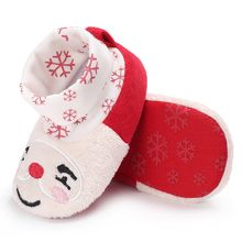 Christmas Baby Shoes Toddler Kid Baby Girls Boy Flock Winter Warm Snow Boots Bootie Shoes Winter Cute Soft Warm Shoes hot sale(China)