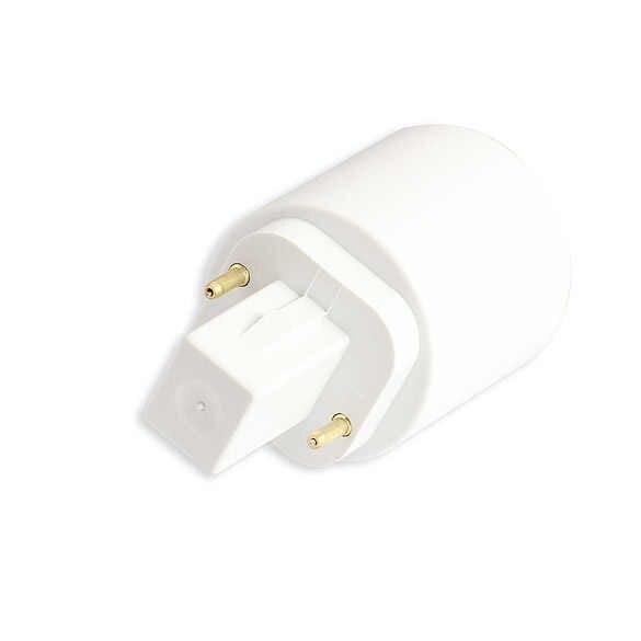 1Pcs מעכב G24 כדי E27 מנורת ממירים מחזיק אור הנורה בסיס Socket LED הלוגן CFL מנורת ממיר G24 הנורה מתאם Sc