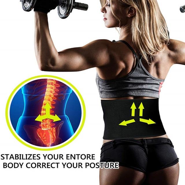2020 New Women Waist Trainer Neoprene Belt Weight Loss Cincher Body Shaper Tummy Control Strap Slimming Sweat Fat Burning Girdle 1