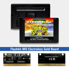 Tartarughe The Hyperstone Heist   EUR Label Flashkit MD Card per Console per videogiochi Sega Genesis Megadrive
