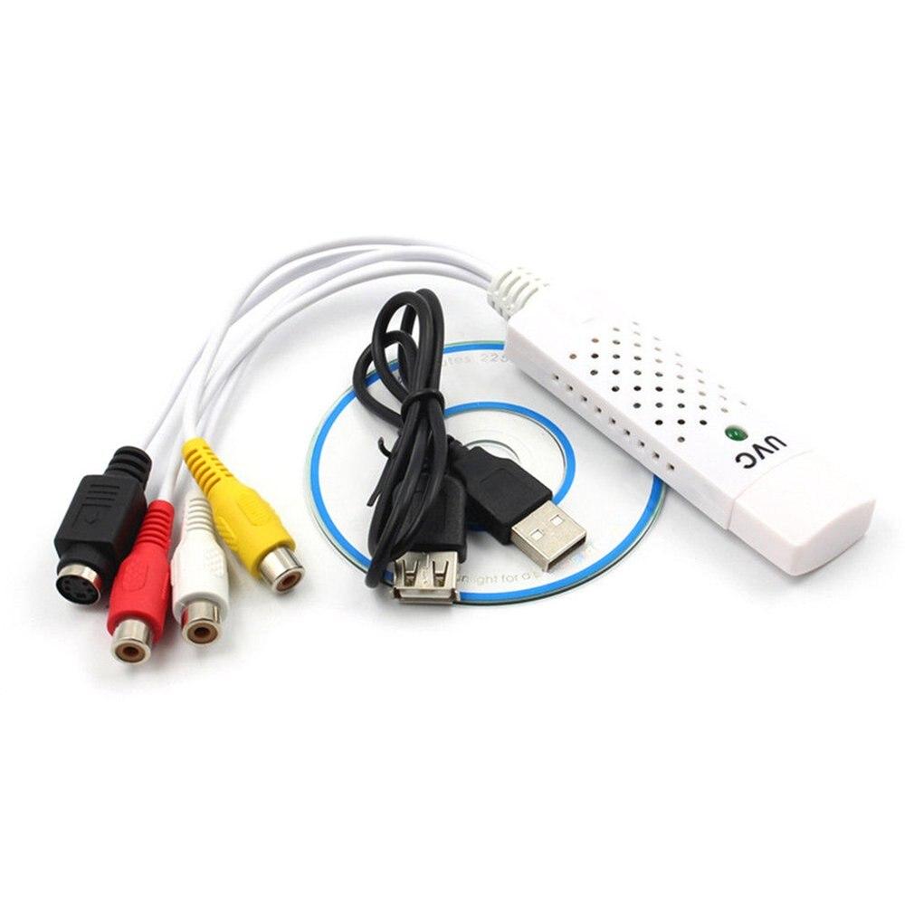 New USB 2.0 Easycap Capture 4 Channel Video Capture Grabber Card Adapter TV DVD VHS Audio Capture USB Converter Support Win7 ---