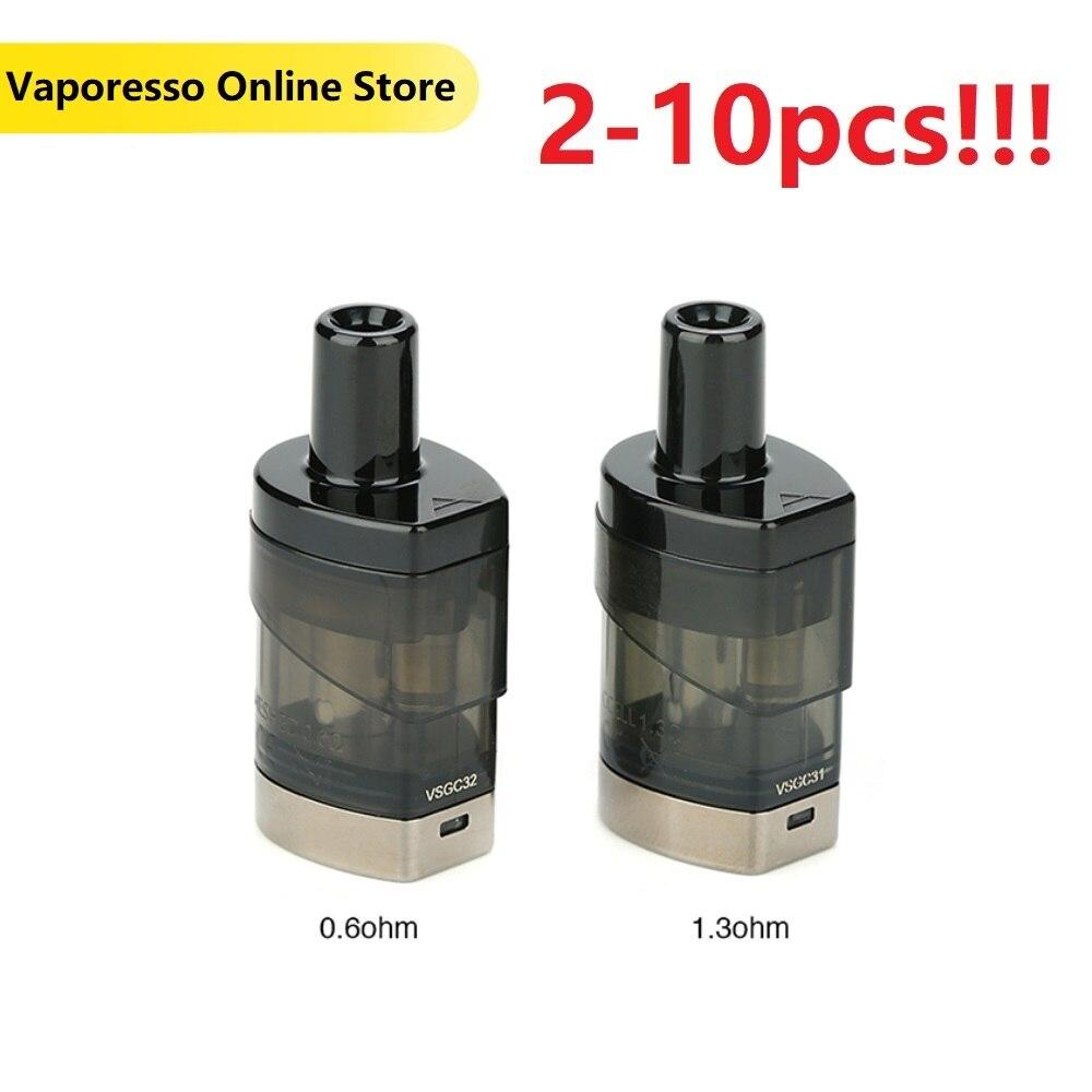 2~10pcs/lot Original Vaporesso Podstick Pod 2ml Capacity E Cig 1.3ohm And 0.6ohm Pod Fit Vaporesso Podstick Kit Vape E Cigarette