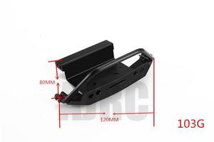 Image 2 - Ajrc Traxxas TRX 4 G500 TRX 6 G63 Metalen Cnc Aluminium Voorbumper Stinger Voorbumper Simulatie Klimmen Accessoires