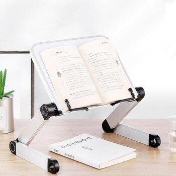 الإبداعية سبائك الألومنيوم معدن 360 درجة قابل للتعديل كتاب القراءة حامل أرفف الكتب القراءة رف الكتب حامل الكمبيوتر المحمول القرطاسية