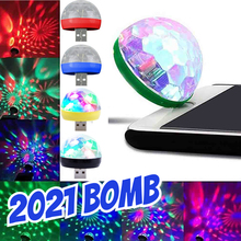 Mini USB LED Disco DJ Stage Light Portable Family Party Ball Colorful Light Bar Club Stage Effect Lamp Mobile Phone Lightings