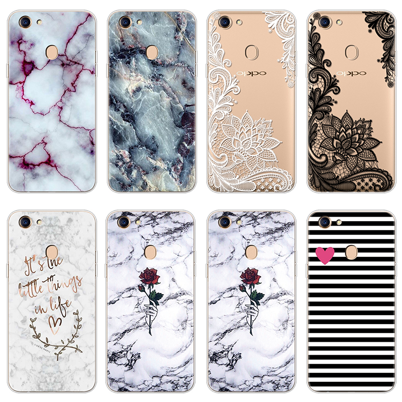 Protective Pattern Cats Silicone Back Cover <font><b>Case</b></font> For Fundas <font><b>OPPO</b></font> F5 F7 Marble Rubber Soft TPU FOR <font><b>OPPO</b></font> <font><b>F9</b></font> <font><b>Case</b></font> Capa Transparent image
