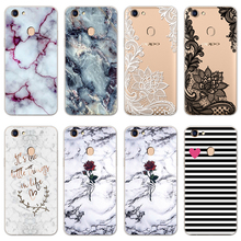 Protective Pattern Cats Silicone Back Cover Case For Fundas OPPO F5 F7 Marble Rubber Soft TPU FOR OPPO F9 Case Capa Transparent