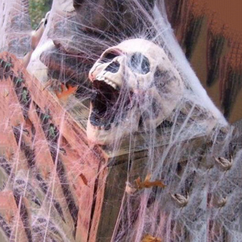 Halloween Decor Spider Web Scary Party Scene Props White Stretchy Cobweb Horror Haunted House Home Decoration Accessories halloween scary party scene spider decorative props joking birthday toys diy halloween simulation plush spider decorative