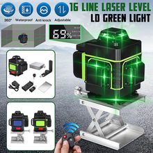 Лазерный уровень 16 линий 3D самонивелирующийся 360 горизонтальный и вертикальный крест супер мощный зеленый лазерный луч линии