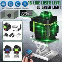 Livello del Laser 16 Linee 3D Self-Leveling 360 Orizzontale E Verticale Croce Super Potente Laser Verde Linea di Fascio di