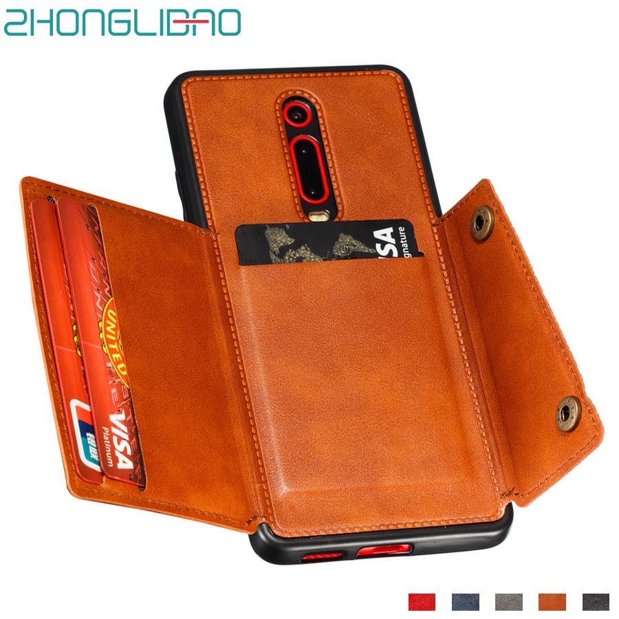 Card Holder Wallet Case for Xiaomi Mi K20 K30 9t Pro Xiomi Redmi 8a 7a Note 9 8 7 Pro 9s Global Leather Car Magnetic Stand Cover(China)